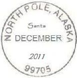 2011 North Pole Postmark