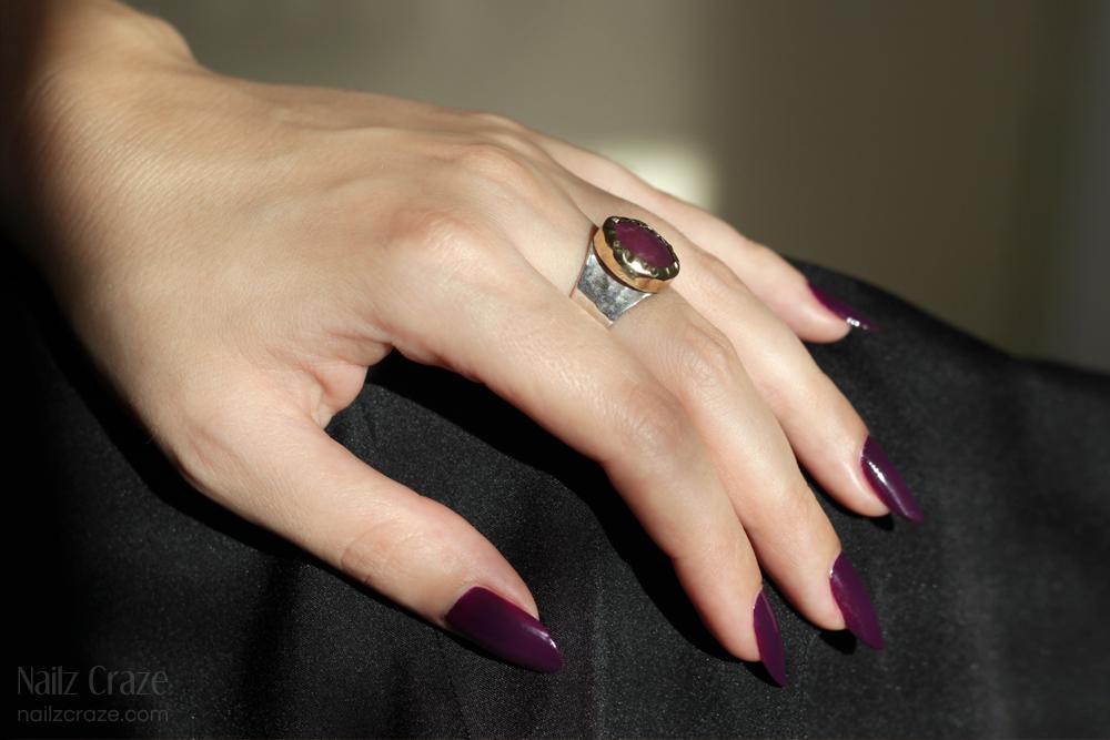 Sigal F Jewelry - Ruby & Labradorite Rings - Nailz Craze