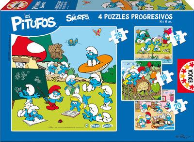 Pitufando en azul nuevos puzzles pituferos educa - Caja rompecabezas ...