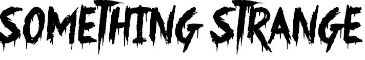 Something Strange Free Halloween Font