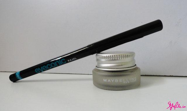 Kajal, kohl, eye liner, gel liner, Lakme, eyeconic, Maybelline gel liner