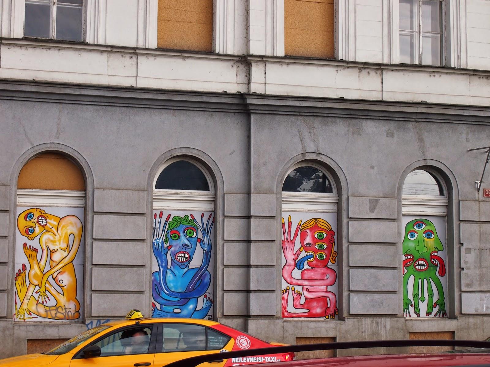 Monster Street art in Prague