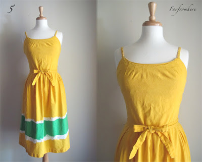 robe vintage jaune 60 - selection by Chez Violette