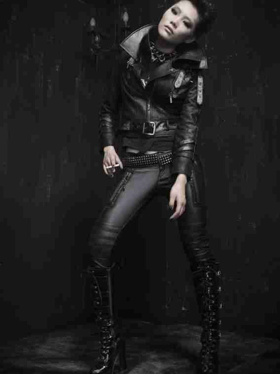 Black Alternative Gothic Punk Jacket for Women
