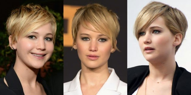 model rambut Jennifer Lawrence