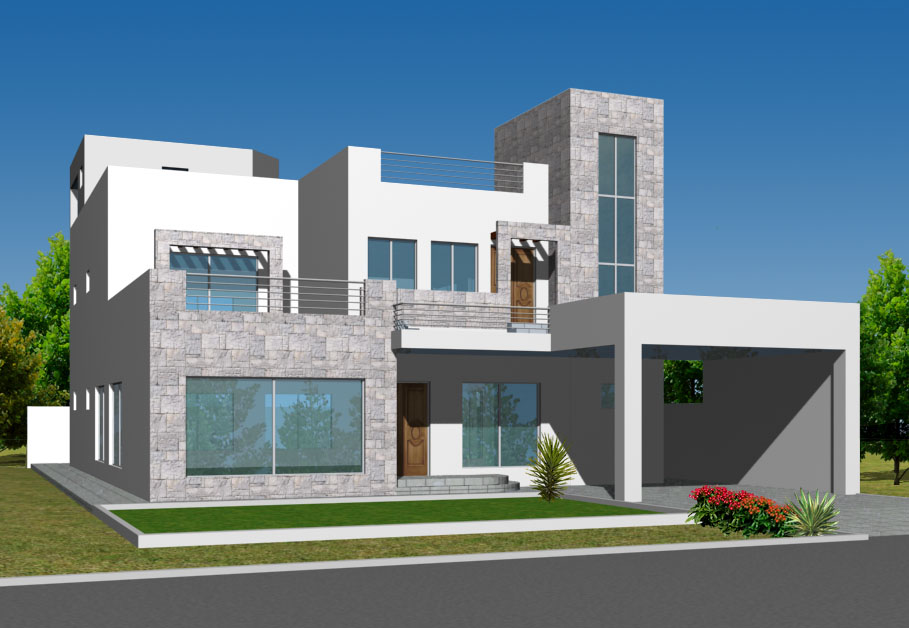 Front Elevation App : D front elevation marla house elevations