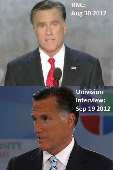 Presidential Race Mitt+romney+univision+campaign+brownface+looking+more+latino+comparison+with+rnc+speech