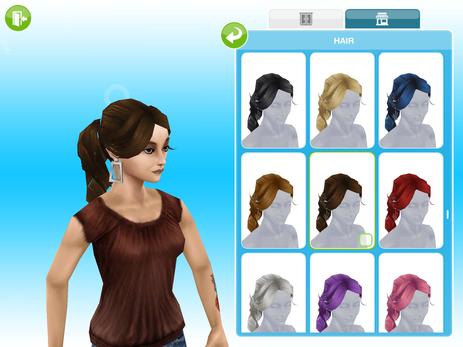The sims freeplay long hairstyle - Loose Ponytail Hairstyle