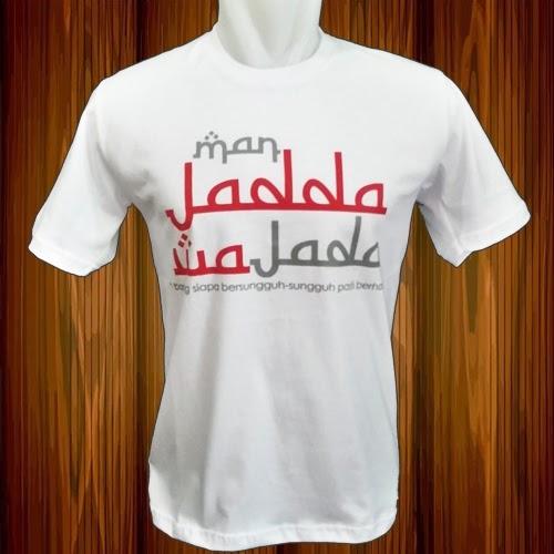 Kaos Man Jadda Wa Jada (Putih)