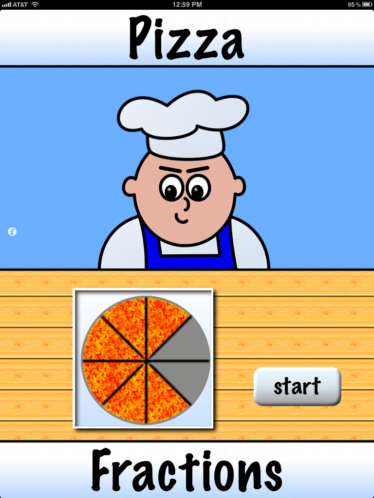 Pizza Fractions Difficult pizza fractions