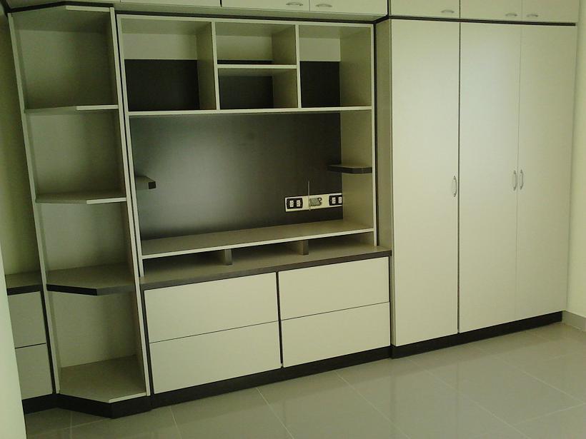 Mobilack mueble para dormitorio combinado placard tv for Roperos de melamina para dormitorios