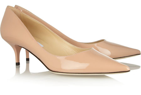 heel nude pumps