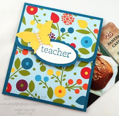 Handmade Gift Card Holder for Teacher