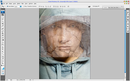 Текстура кожи в Adobe Photoshop2