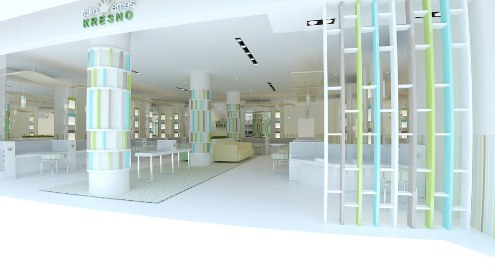 Jewelry shop interior design for Interior design jakarta