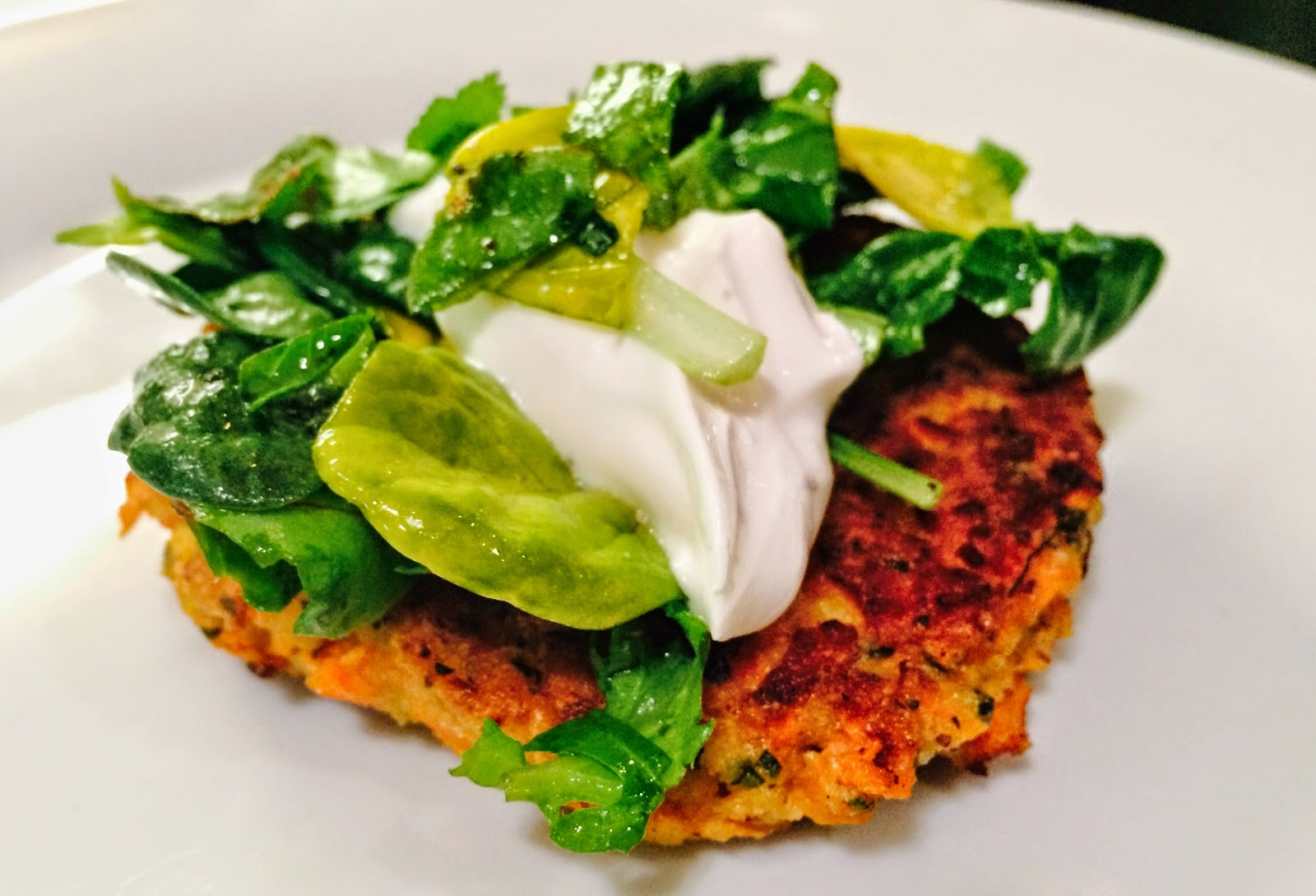 Carrot Pancakes w/ Salted Yogurt