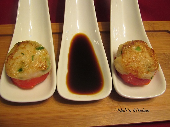 Fish Cake on Bell Pepper
