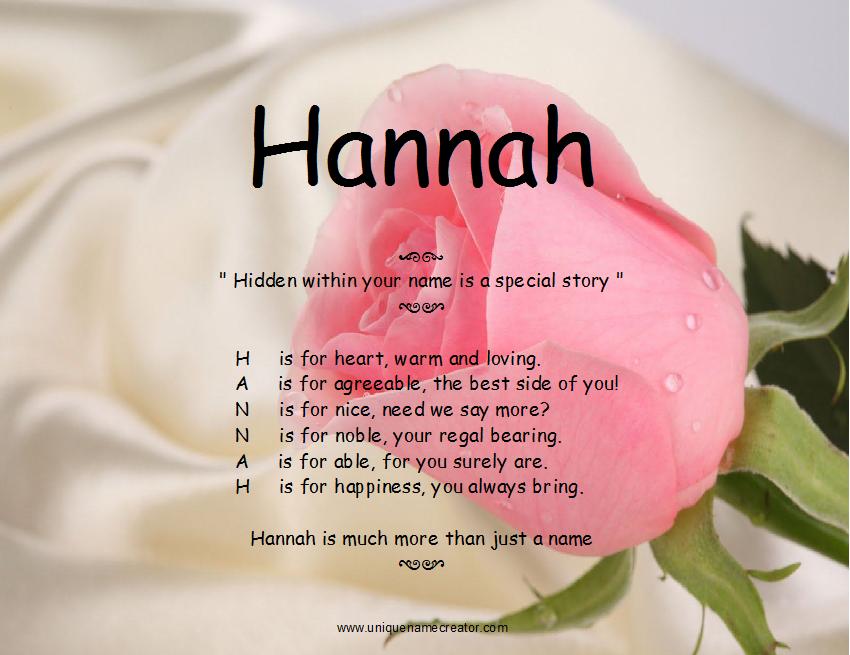 Hannah   Unique Name Creator