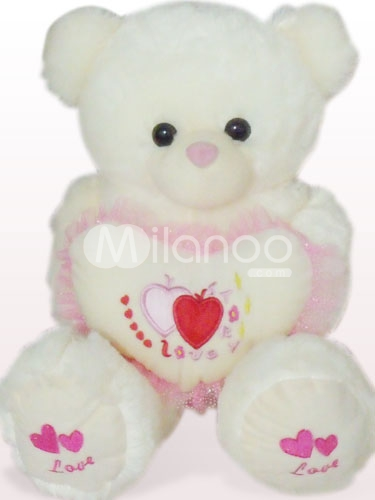 funny white teddy bears with hearts funny animal