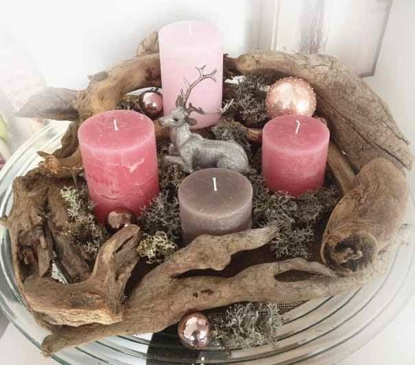 Monis wirkstatt adventskranz for Holzschale dekorieren