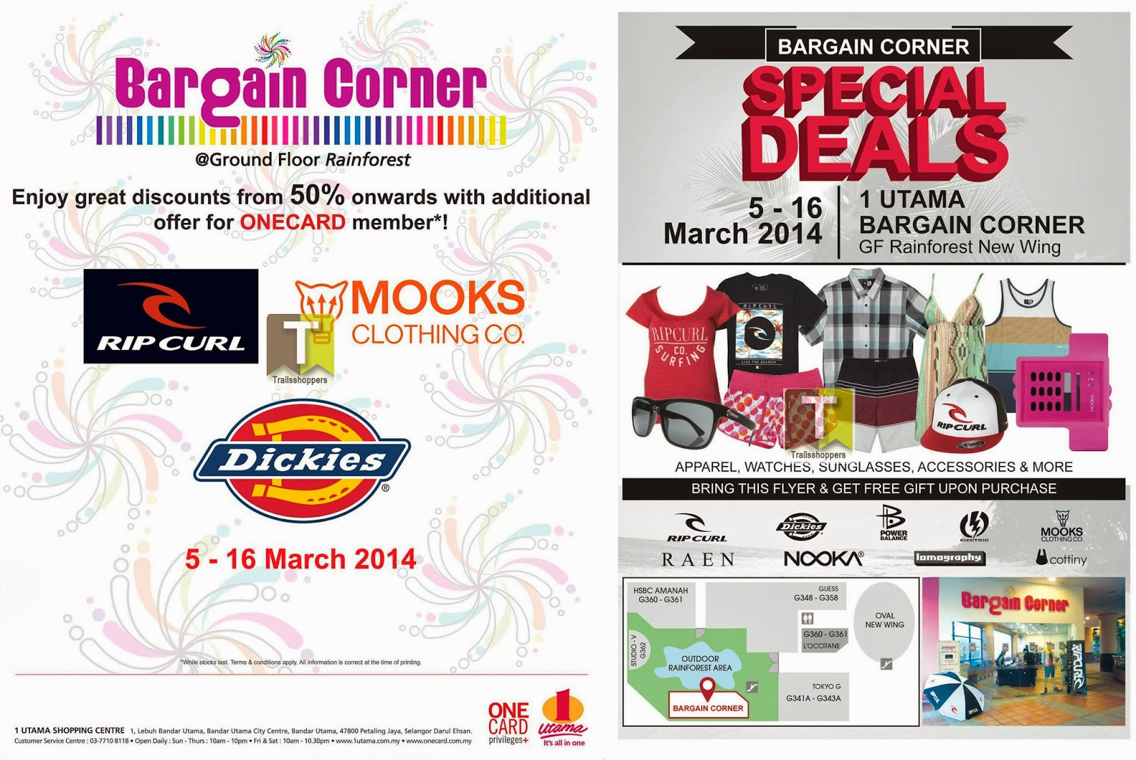 Bargain Corner Special Deals 1 Utama Watches Sunglasses RipCurl
