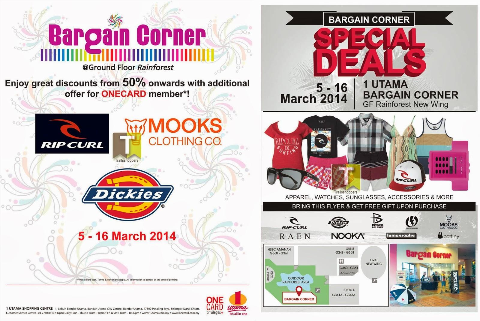 Bargain Corner Special Deals 1 Utama Watches Sunglasses RipCurl