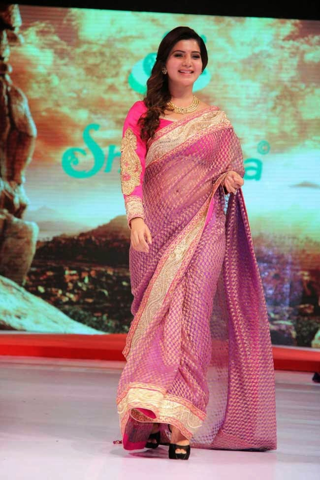Samantha Ruth Prabhu In Designer Saree