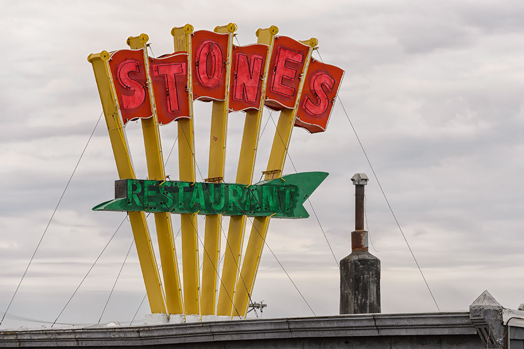 Stones Restaurant sign, Marshalltown, IA