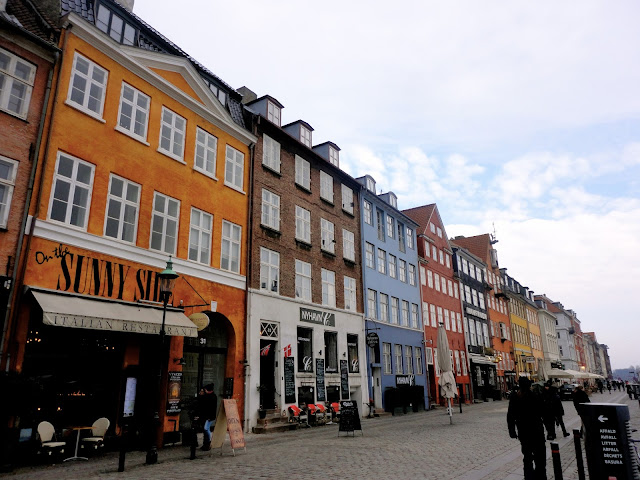 Colourful houses by the harbour at Nyhavn, Copenhagen, Denmark