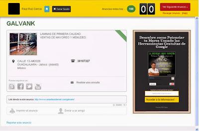 Pagina de ppc de amarillas Internet