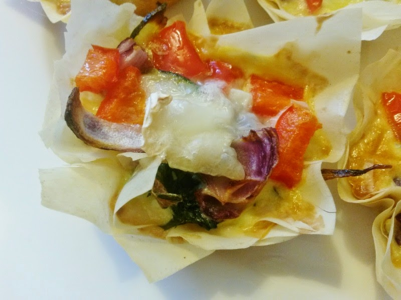 RECIPE: Roast Vegetable and Goats Cheese Filo Pastry Tarts ...