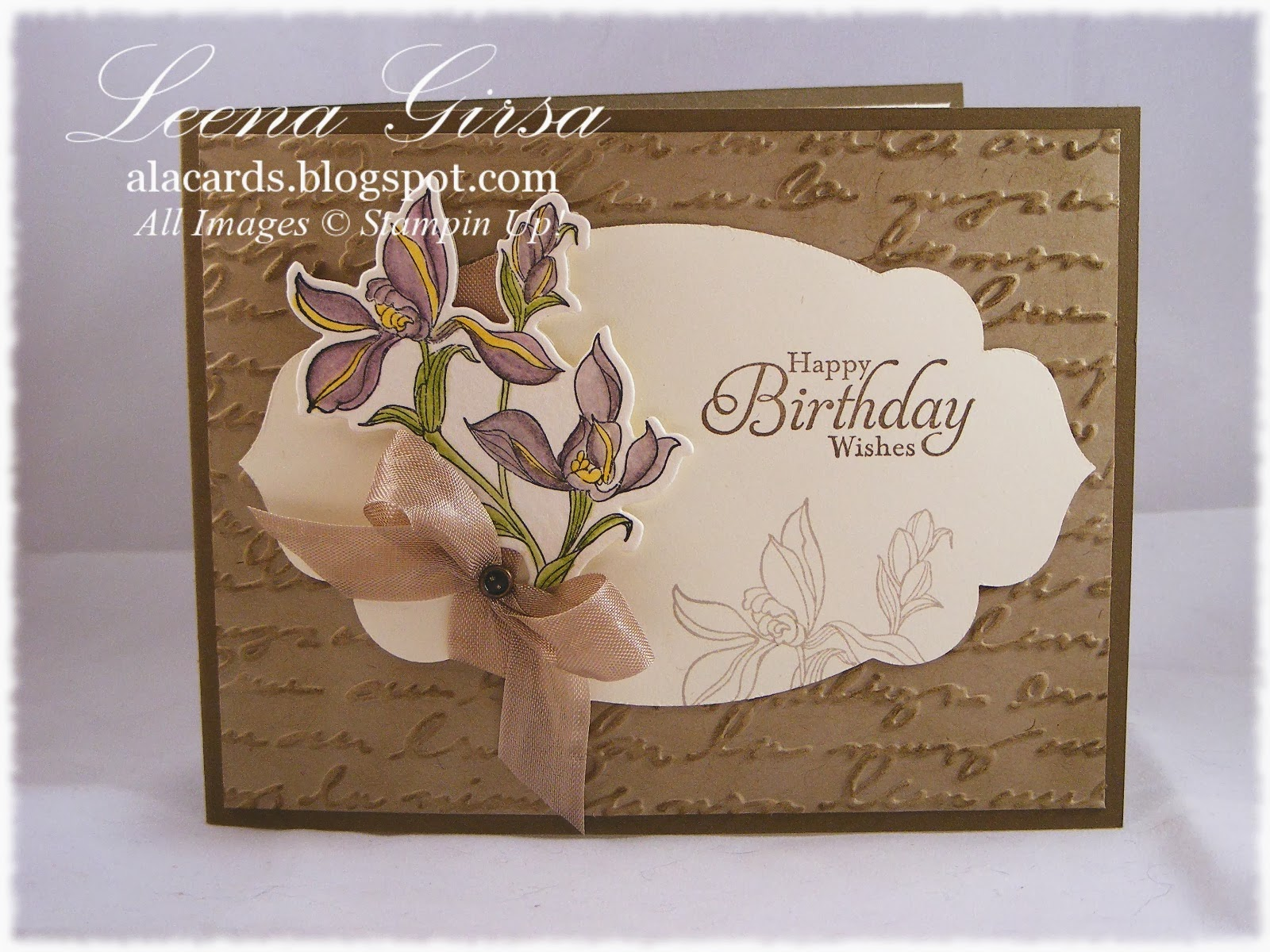 birthday card featuring the backyard basics stamp set with sentiment from simply sketched hostess stamp set