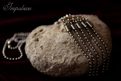 Fringe necklace made of stainless steel dog tag ball chain for women