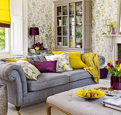 http://oh-ddlovato.com/purple-living-room-inspiration-with-chandelier-and-ceiling-lighting/room-idea-with-gray-sofa-yellow-and-purple-accents/