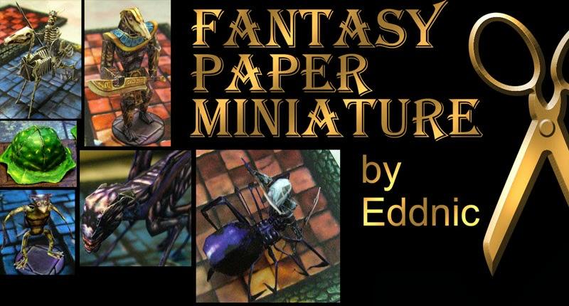Fantasy Paper Miniature Models