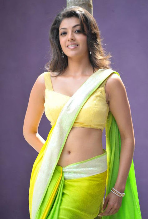 kajal agarwal test saree in business man unseen pics