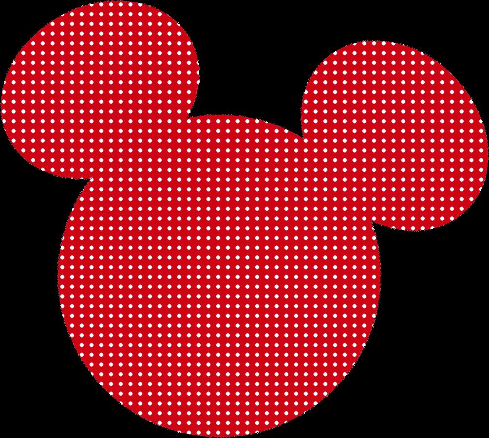 dibujo de cabeza de minnie mouse rojo cabeza minnie mouse