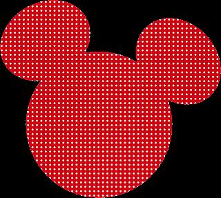dibujo de cabeza de minnie mouse rojo