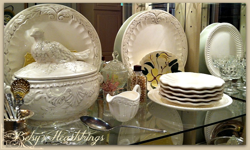 The dishes weren\u0027t pictured in the most recent catalog and I hoped what they still had would be on clearance. And they were! In the second picture ... & Betsy\u0027s Heartstrings: Blissful White Wednesday ~ My White Dishes