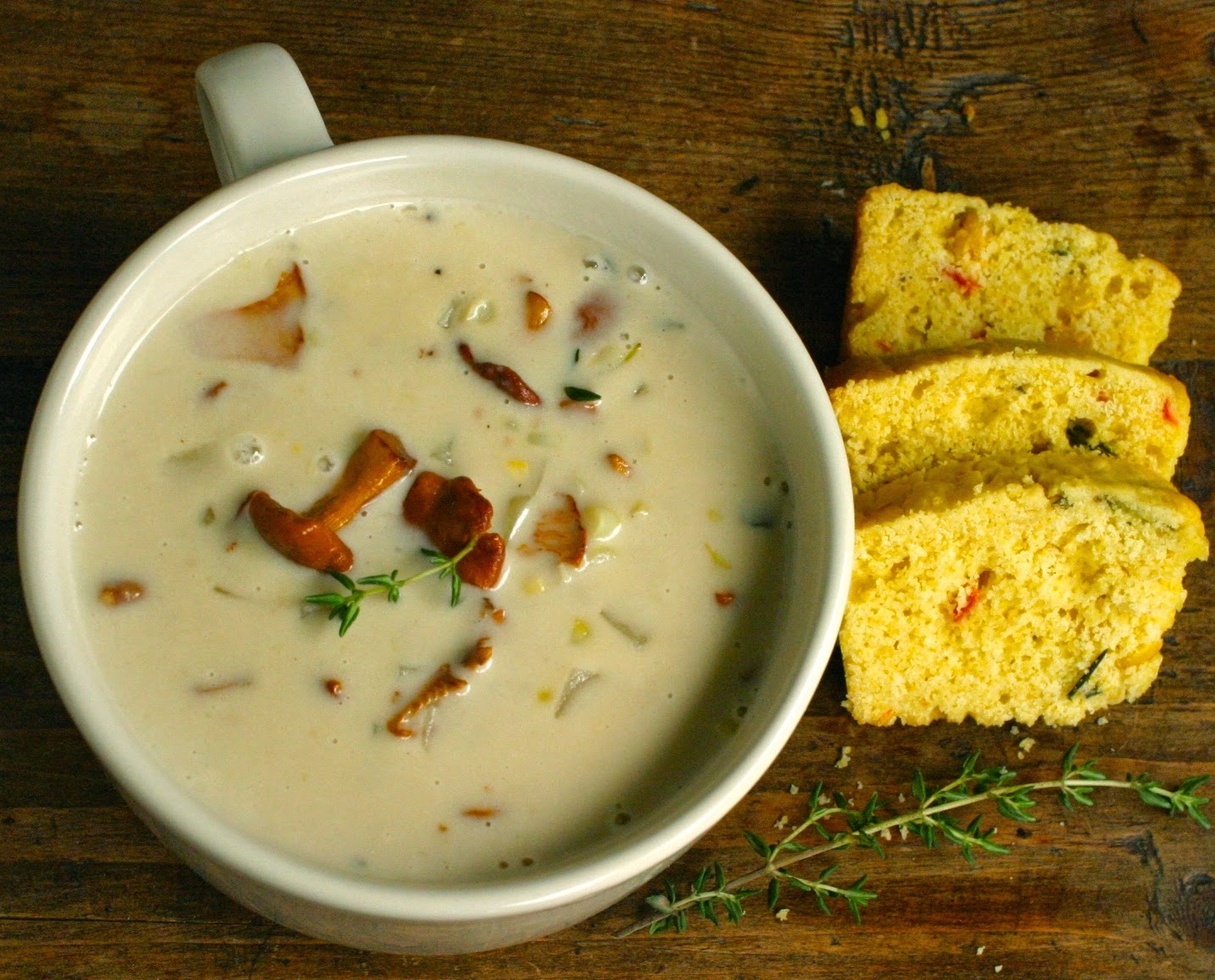 chanterelle and corn chowder