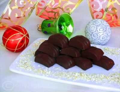 cioccolatini al liquore con crusca d'avena - ricetta natalizia