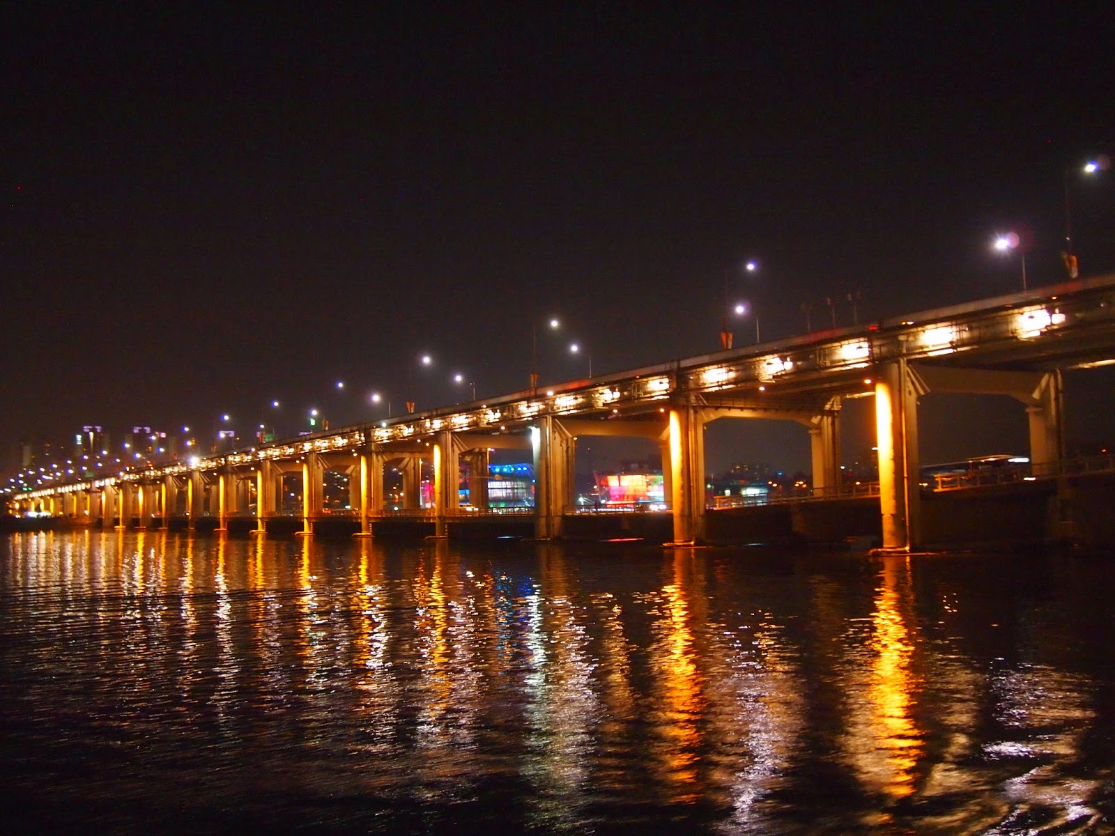 Night Views And City Lights On The Han River Fireworks