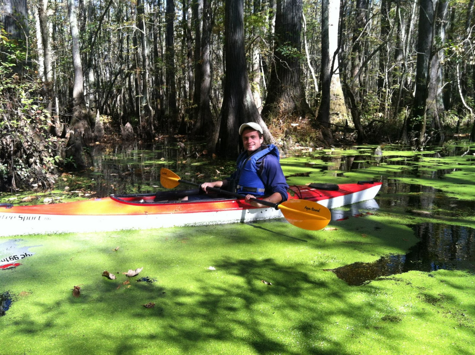 figure 12 myself kayaking through a swamp in north carolina