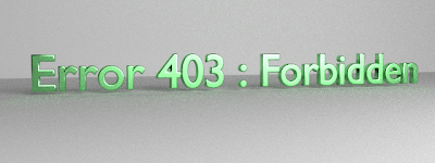 Penyebab Error 403 Forbidden