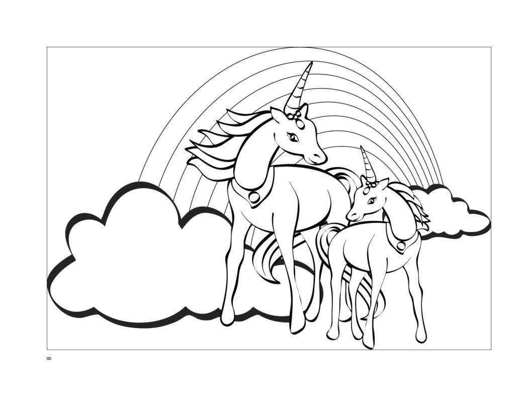 Free unicorn coloring pages to print - Unicorns Coloring Page Printable