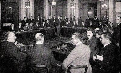Simultáneas de Alekhine en el Círculo Ecuestre en 1923
