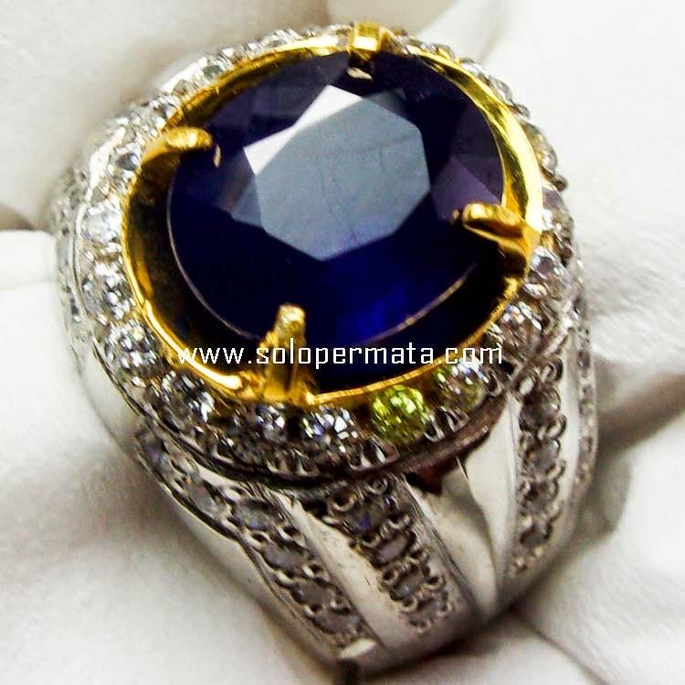 Cincin Batu Permata Blue Sapphire