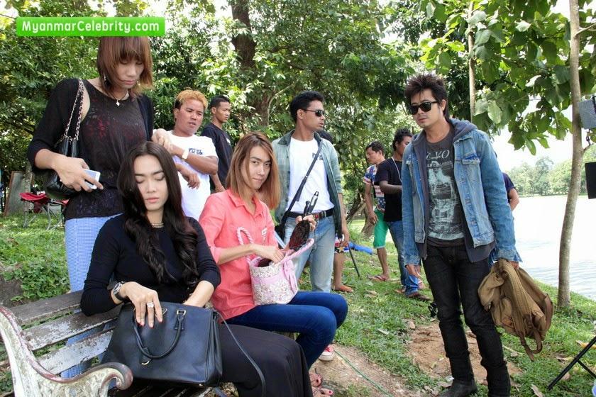 Nay toe amp moe hay ko at quot lu sein quot movie making myanmar celebrity