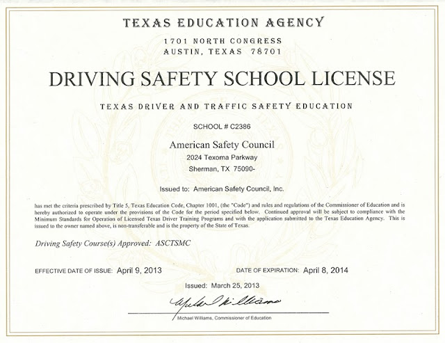 www5.esc13.net/drivers/ - 6 Hour Driving Course, Texas Adult Drivers ...