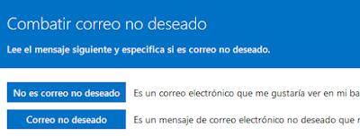Outlook te invita a combatir el correo Basura
